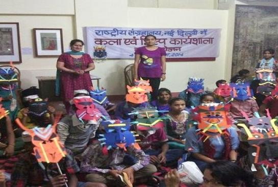 Magic Bus Children attend 'Know Your Museum' Workshop